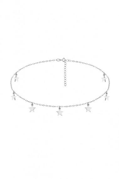 Colier choker 7 stelute din argint 925, Ludique Jewelry, argintiu