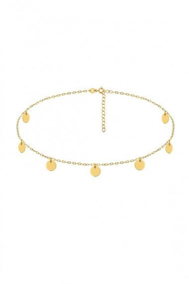 Colier choker cu 7 banuti din argint 925, Ludique Jewelry, auriu