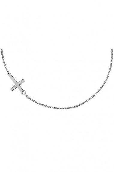 Colier pandantiv cruce din argint 925, Ludique Jewelry, argintiu