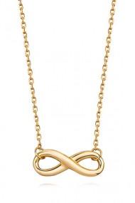 Colier infinit argint 925, Ludique Jewelry, auriu