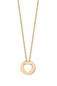 Colier pandantiv inimioara din argint 925, Ludique Jewelry, auriu
