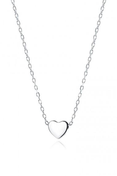 Colier choker cu inimioara, Ludique Jewelry, argintiu