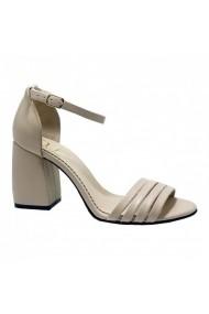 Sandale cu toc Luisa Fiore ANNE bej