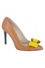 Pantofi cu toc Luisa Fiore Begonia maro coniac