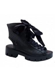 Sandale plate Luisa Fiore CONA negru