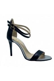 Sandale cu toc Luisa Fiore DELLA NOTE negru