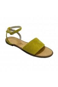 Sandale plate Luisa Fiore ENY galben