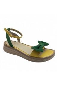 Sandale plate Luisa Fiore GYA galben