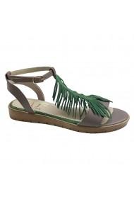 Sandale plate Luisa Fiore LESA gri/verde