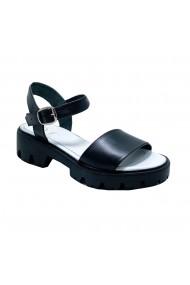 Sandale plate Luisa Fiore SELYNA negru