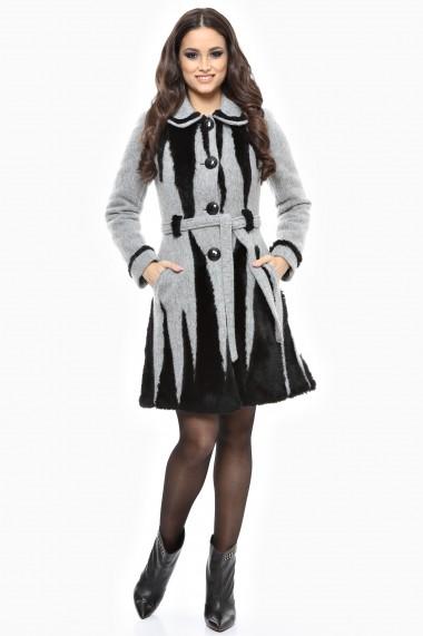 Palton gros Lille Couture Rica Gri