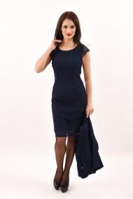 Costum Lille Couture din dantela bleumarin