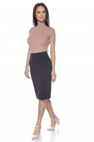 Fusta dreapta Lille Couture bleumarin