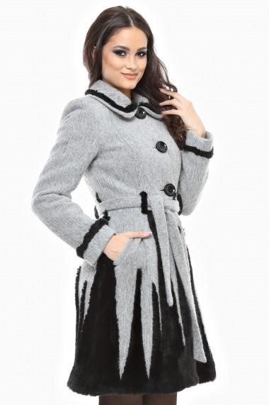 Palton Lille Couture Rica Gri
