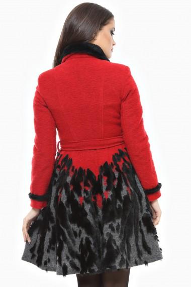 Palton Lille Couture Rica Rosu