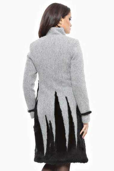 Palton gros Lille Couture Stefi Gri