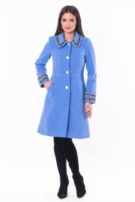 Palton cu aplicatii Lille Couture Cosmina Bleu