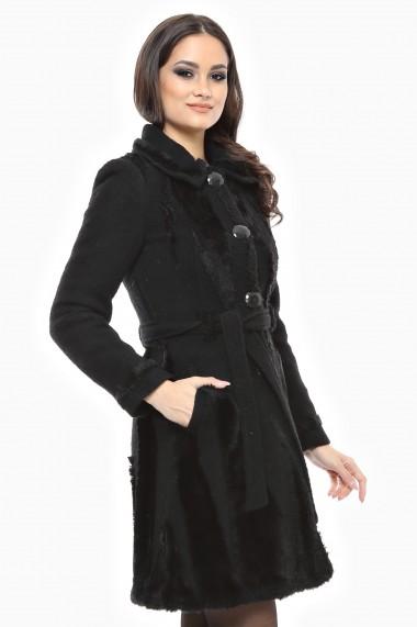 Palton gros Lille Couture Rica negru