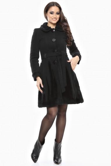 Palton Lille Couture Rica negru