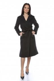 Palton elegant Lille Couture Roxana negru