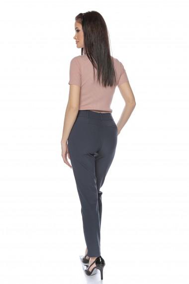 Pantaloni drepti Lille Couture bleumarin