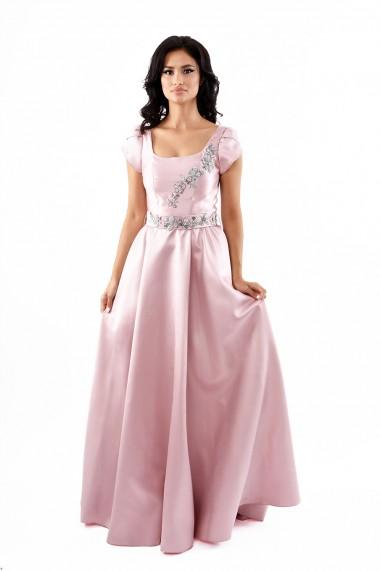 Rochie de seara lunga Lille Couture Izabela roz