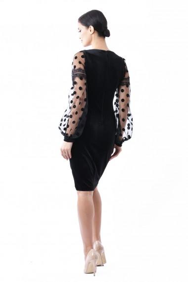 Rochie catifea Lille Couture Aniela Neagra