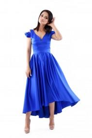 Rochie de seara lunga Lille Couture din tafta Doris Albastru-Electric
