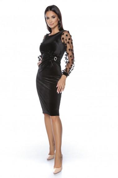 Rochie de seara midi Lille Couture Eliza negru