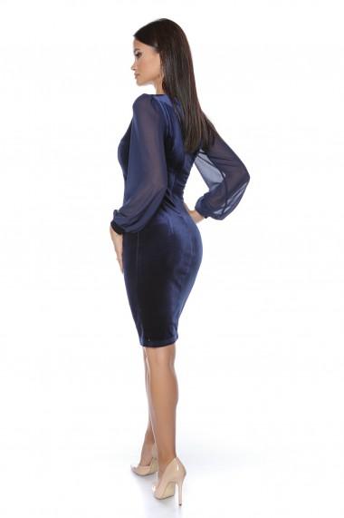 Rochie de seara midi Lille Couture Coca albastru