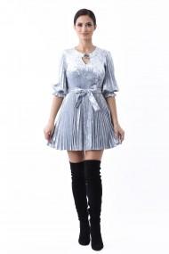 Rochie catifea Lille Couture Gri