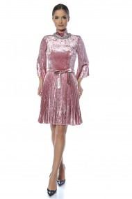 Rochie catifea Lille Couture Paty Roz