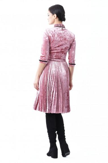 Rochie catifea Lille Couture Roz