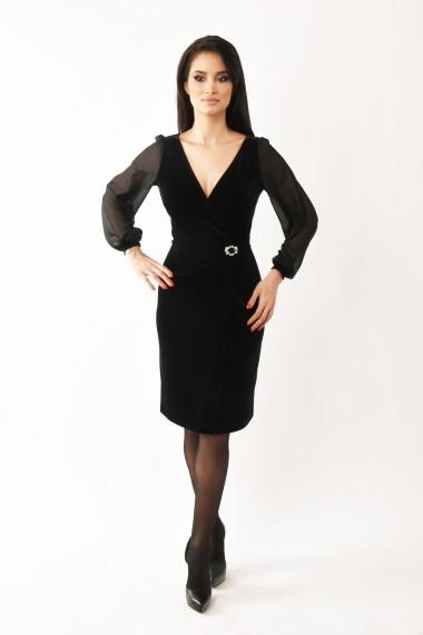 Rochie de seara midi Lille Couture Camelia negru