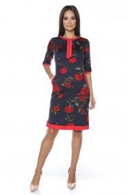Rochie din jerse Lille Couture Ada print floral