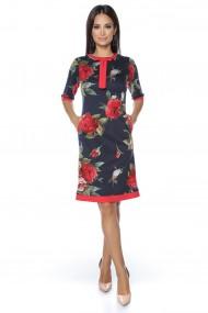 Rochie midi Lille Couture Ada print floral