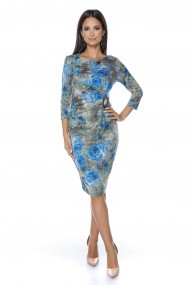 Rochie din jerse Lille Couture Eliza print floral