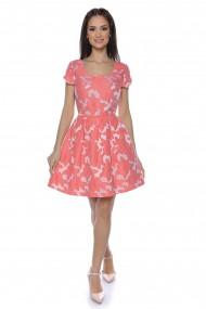 Rochie midi Lille Couture print floral corai