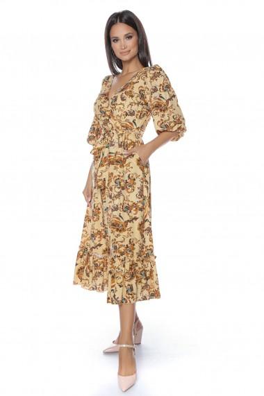 Rochie midi Lille Couture Augusta 109 Bej