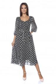 Rochie midi Lille Couture Roxette negru