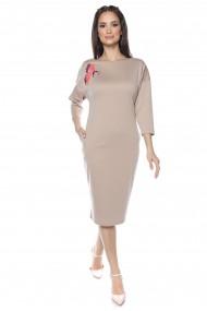 Rochie midi Lille Couture Flavia bej deschis