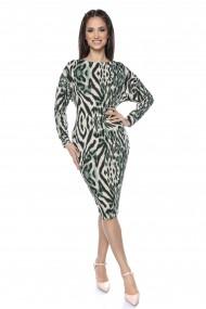 Rochie midi Lille Couture Flavia animal print