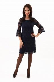 Rochie din dantela Lille Couture bleumarin