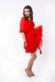Rochie scurta Lille Couture Angi rosie
