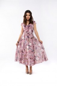 Rochie lunga Lille Couture Roxy lila