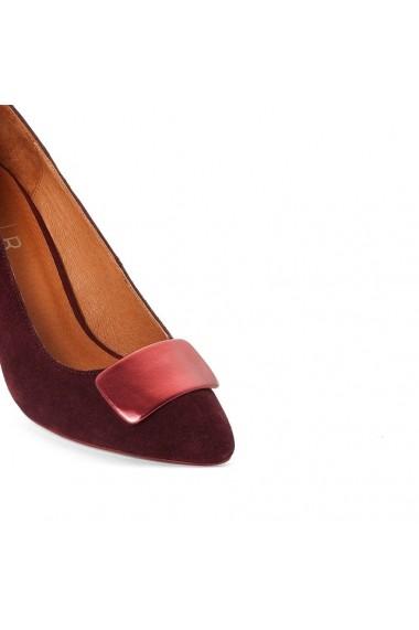 Pantofi cu toc ATELIER R 8703663 Bordo