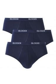 Set 3 slipuri SLOGGI 9086285 Bleumarin - els