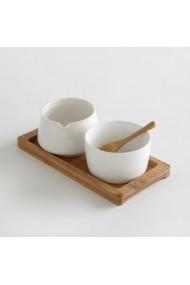 Set recipiente lapte si zahar La Redoute Interieurs GBV679 alb