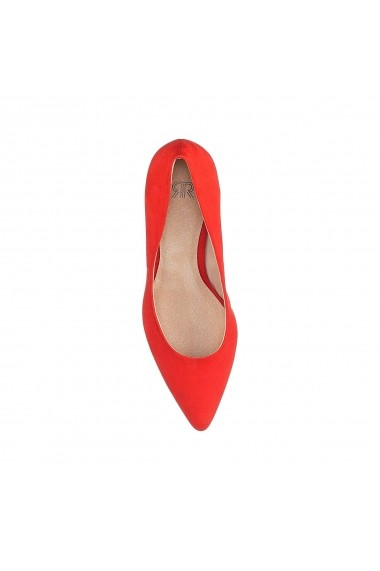 Pantofi cu toc La Redoute Collections GBX518 rosu