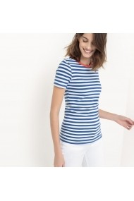 Tricou La Redoute Collections GBY354_alb Bleumarin